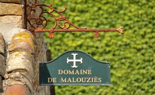 emblem of domaine de malouziès - cottages and bed and breakfasts with swimming pool in cathar country