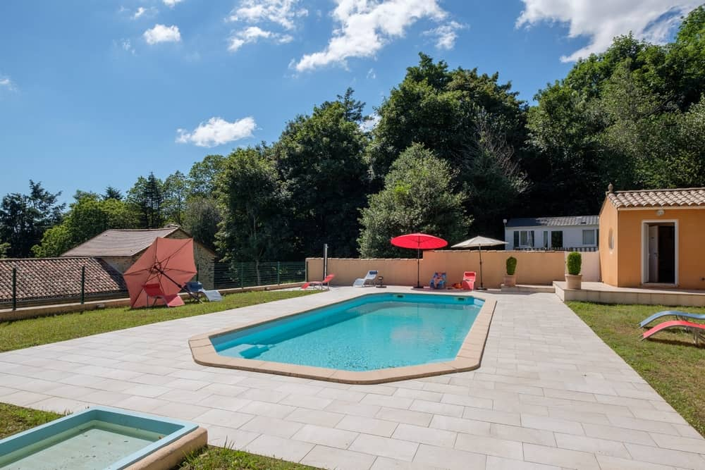 view 1 of the swimming pool - cottages and bed and breakfast near the cité de carcassonne