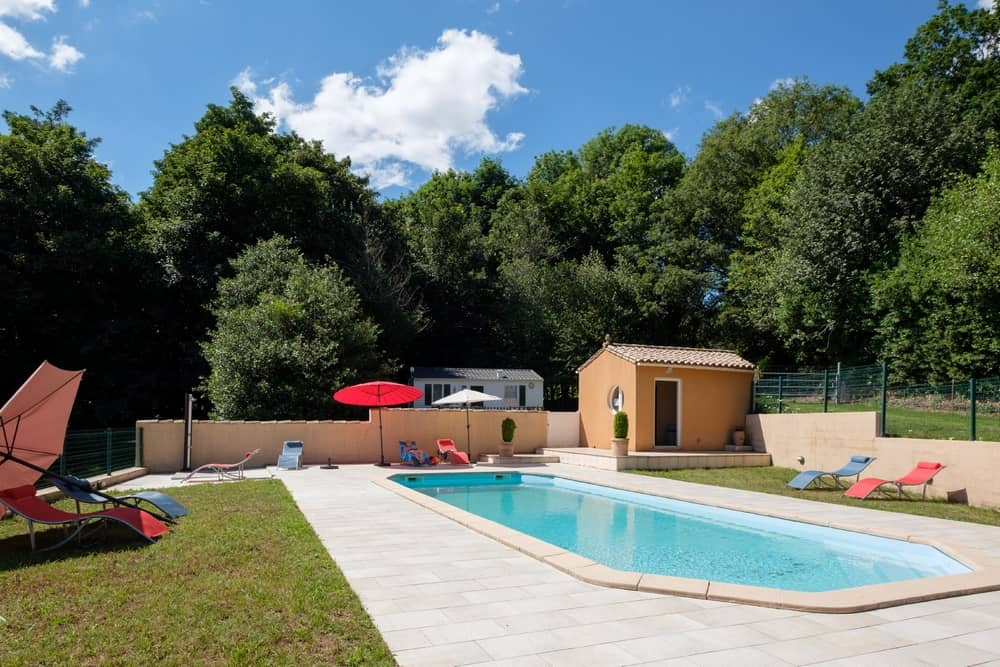 view 2 of the swimming pool - cottages and bed and breakfast near the cité de carcassonne