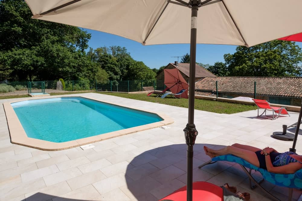 view 3 of the swimming pool - cottages and bed and breakfast near the cité de carcassonne