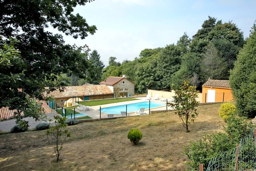 view 7 of the swimming pool - cottages and bed and breakfast near the cité de carcassonne